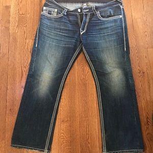 True religion straight leg jeans size 38